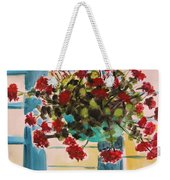 Basket Of Geraniums Weekender Tote Bag