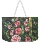 Basket Of Pink Flowers Weekender Tote Bag