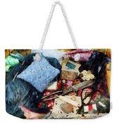Basket Of Sewing Supplies Weekender Tote Bag