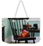 Basket Of Yarn On Rocking Chair Weekender Tote Bag by Susan Savad