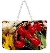 Basket With Tulips Weekender Tote Bag by Garry Gay