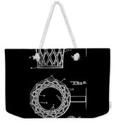 Basketball Net Patent 1951 In Black Weekender Tote Bag