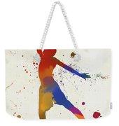 Basketball Player Paint Splatter Weekender Tote Bag