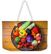 Basketful Of Fresh Vegetables Weekender Tote Bag