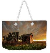 Basking In The Glow - Old Barn At Sunset In Oklahoma Panhandle Weekender Tote Bag