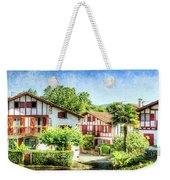 Basque Houses In Ainhoa 2- Vintage Version Weekender Tote Bag