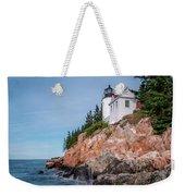 Bass Harbor Head Lighthouse Weekender Tote Bag