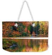 Pond In Autumn Weekender Tote Bag