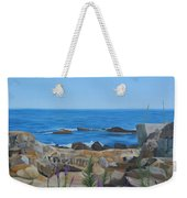 Bass Rocks Gloucester Weekender Tote Bag