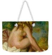 Bather Seated Nude Weekender Tote Bag
