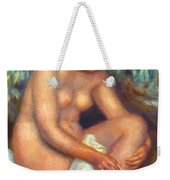 Bather Wiping A Wound 1909 Weekender Tote Bag