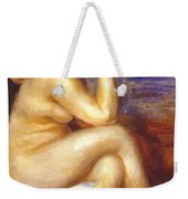 Bather With A Rock Weekender Tote Bag