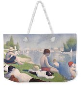 Bathers At Asnieres Weekender Tote Bag by Georges Pierre Seurat