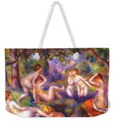 Bathers In The Forest Weekender Tote Bag