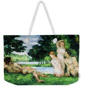 Bathers Male And Female Weekender Tote Bag