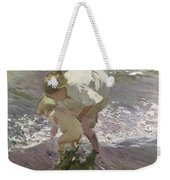 Bathing On The Beach Weekender Tote Bag