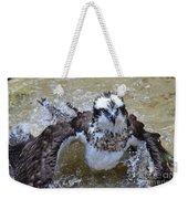 Bathing Osprey Bird Splashing About Weekender Tote Bag