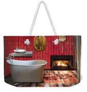 Bathroom Retro Style Weekender Tote Bag