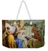 Bathsheba Bathing Weekender Tote Bag