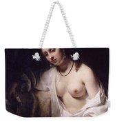 Bathsheba With David's Letter Weekender Tote Bag