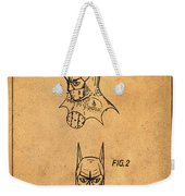 Batman Cowl Patent In Sepia Weekender Tote Bag