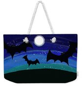 Bats At Night Weekender Tote Bag