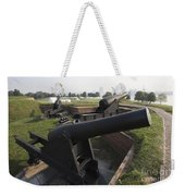 Battery Of Cannons At Fort Mchenry Weekender Tote Bag
