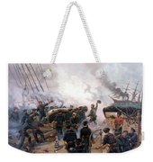 Battle Between Kearsarge And Alabama Weekender Tote Bag