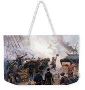 Battle Between Kearsarge And Alabama Weekender Tote Bag by War Is Hell Store