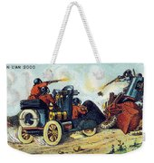 Battle Cars, 1900s French Postcard Weekender Tote Bag