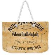 Battle Hymn Of The Republic Weekender Tote Bag