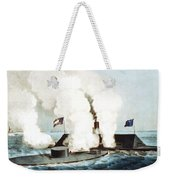 Battle Of The Monitor And Merrimack Weekender Tote Bag