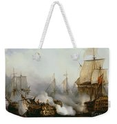 Battle Of Trafalgar Weekender Tote Bag by Louis Philippe Crepin