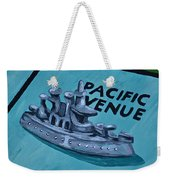 Battle Ship Weekender Tote Bag