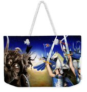 Battle Under The Stars Weekender Tote Bag