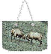 Battling Elk Weekender Tote Bag