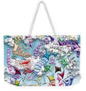 Battling Kites -- Blue Weekender Tote Bag