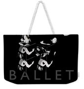 Bauhaus Ballet Black Weekender Tote Bag by Charles Stuart
