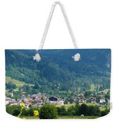 Bavarian Alps With Village And Flowers Weekender Tote Bag