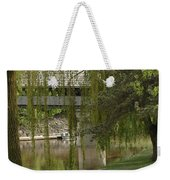 Bavarian Covered Bridge Over The Cass River Frankenmuthmichigan Weekender Tote Bag