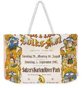 Bavarian Volksfest New York Vintage Poster 1897 Weekender Tote Bag