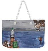 Bay Blues Weekender Tote Bag