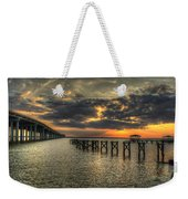 Bay Bridge Sunset Weekender Tote Bag