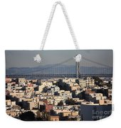 Bay Bridge With Houses And Hills Weekender Tote Bag