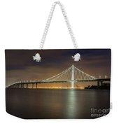 Bay Bridge's Eastern Span Replacement At Night Weekender Tote Bag