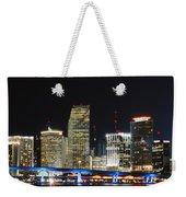 Bay Front Miami Skyline Weekender Tote Bag