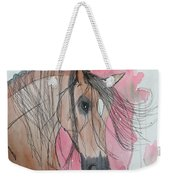 Bay Horse Watercolor Weekender Tote Bag