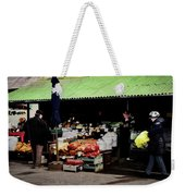 Bazaar On The Outskirts Of A Small Town Weekender Tote Bag