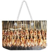 Bbq Asian Grilled Squid In Kep Market Cambodia Weekender Tote Bag