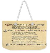 Be Thou My Vision Weekender Tote Bag by Judy Dodds